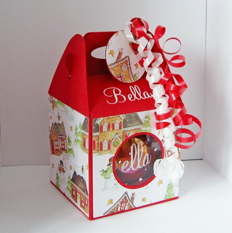 Cup Cake Box Template For Christmas