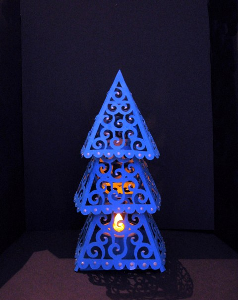 Christmas tree lantern template for Lantern template