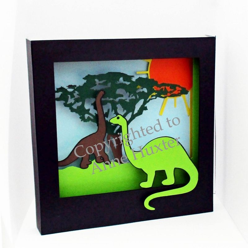 dinosaur picture shadow box template. Black Bedroom Furniture Sets. Home Design Ideas
