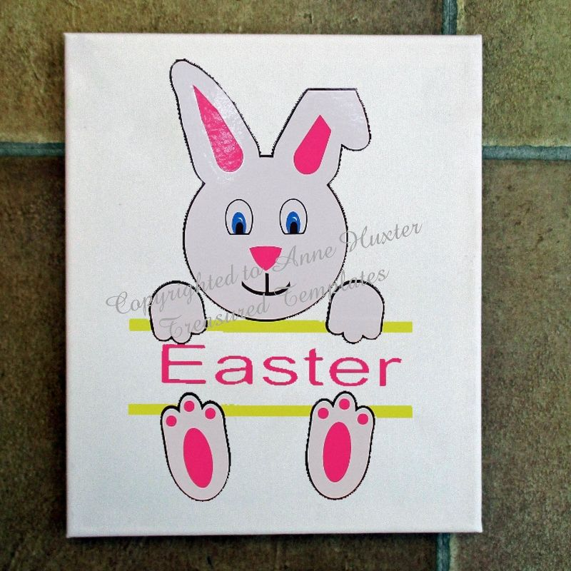 Easter bunny wallet card templates for Wallet card template