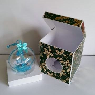 100mm Bauble/Ornament Box with Lift Back Lid Template