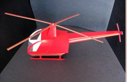 3D Helicopter Template
