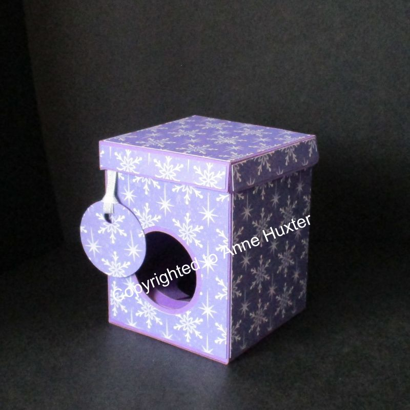 60mm Bauble Ornament Box With Lift Back Lid Template