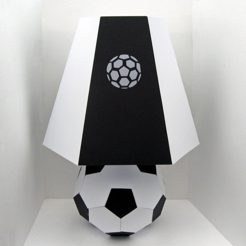 football soccer lamp template