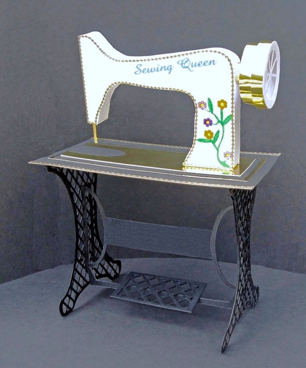 Old Fashioned Sewing Machine Template