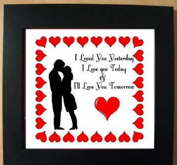 I Love You Vinyl Picture Template
