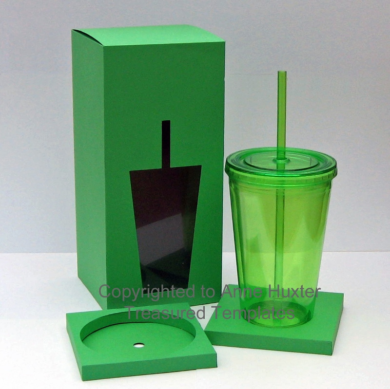 Take Out Tumbler Box Template